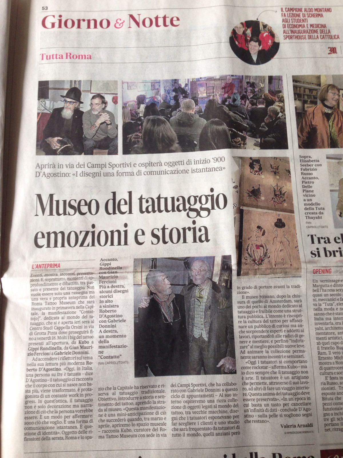 Museo del Tatuaggio - Il Messaggero